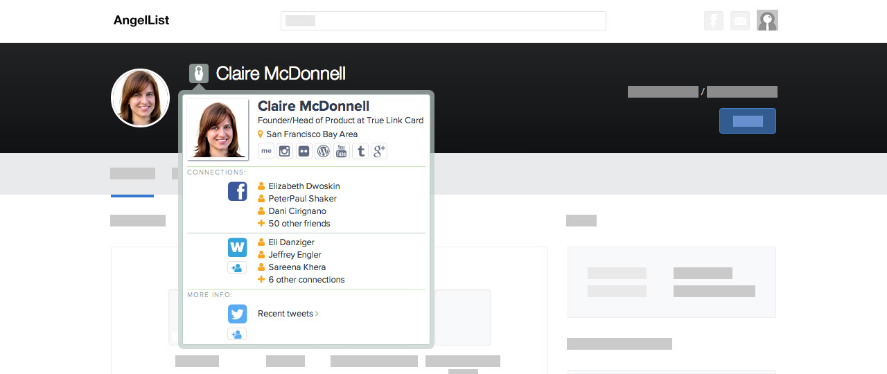 Chrome home screenshot angellist