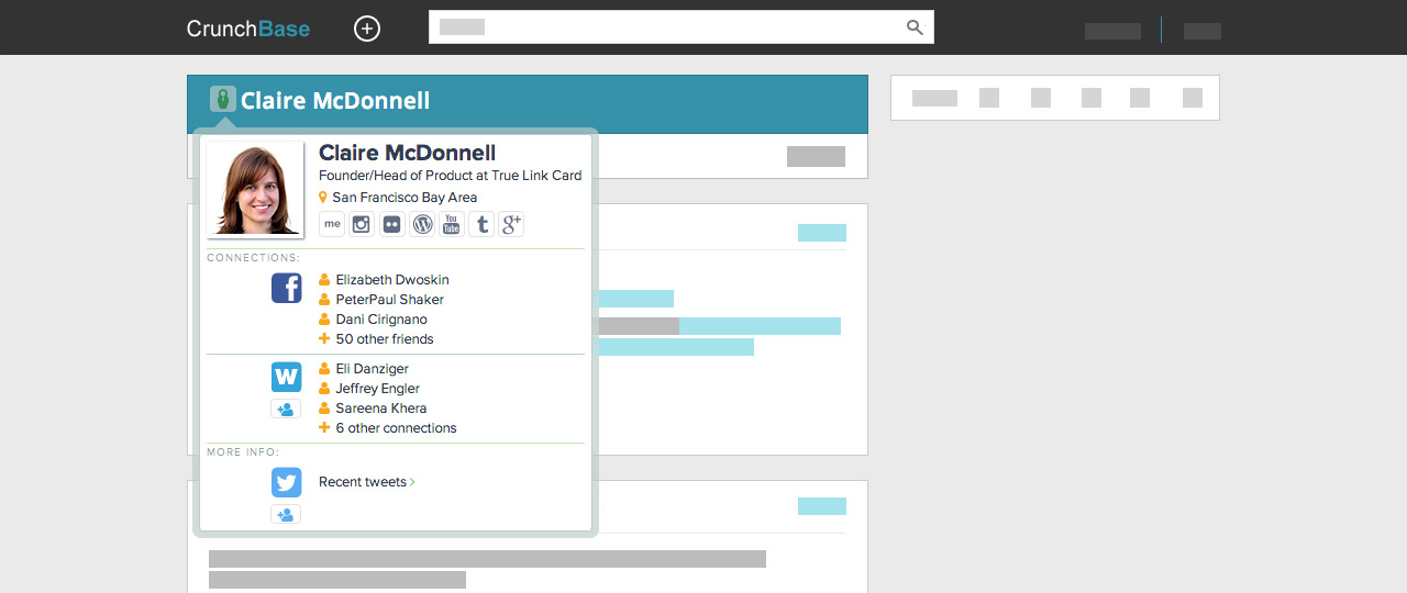 Chrome home screenshot crunchbase